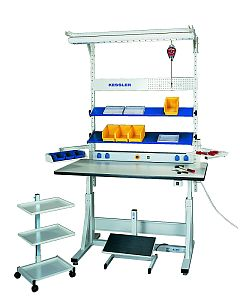 Kessler America, ergonomic Workstation, Industrial Workbenches, Height adjustable ergonomic work stations and sewing machine stands